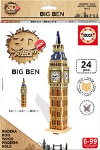 Drevené puzzle pre deti 3D Big Ben London Mini Monument Educa 24 dielikov od 6 rokov