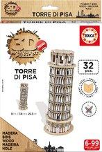Drevené puzzle 3D Torre Pisa Mini Monument Educa od 6 rokov 32 dielov
