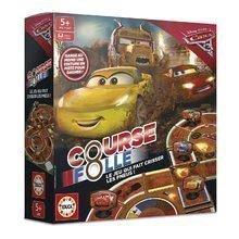 Társasjáték Cars 3 Crazy 8 Educa 2-4 játékosnak francia nyelven
