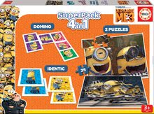 Gyerek puzzle Minions Despicable ME3 SuperPack 4in1 Educa 2xdomino, puzzle, pexeso EDU17364