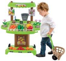 Obchody pre deti - Zeleninový stánok 100% Chef Écoiffier s pokladňou, nákupným vozíkom a 65 doplnkami od 18 mes_3