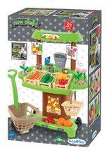 Obchody pre deti - Zeleninový stánok 100% Chef Écoiffier s pokladňou, nákupným vozíkom a 65 doplnkami od 18 mes_14
