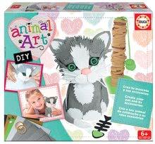 Set creativ Animal Art Educa Fă-ţi singur pisicuţa şi accesoriile sale de la 6 ani