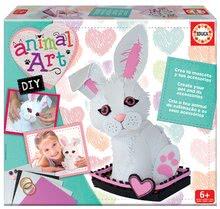 Kreatív szett Animal Art Educa Készítsd el magad nyuszidat és kiegészítőit 6 évtől