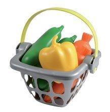 Obchody pre deti - Zeleninový stánok 100% Chef Organic Écoiffier s nákupným košíkom a 18 doplnkami od 18 mes_0
