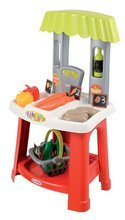 Obchody pre deti - Zeleninový stánok 100% Chef Organic Écoiffier s nákupným košíkom a 18 doplnkami od 18 mes_1