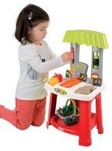 Obchody pre deti - Zeleninový stánok 100% Chef Organic Écoiffier s nákupným košíkom a 18 doplnkami od 18 mes_2