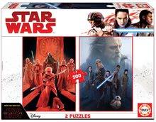 Puzzle Star Wars: Episode VIII - The last Jedi 2x500 dielov a Fix lepidlo od 11 rokov