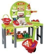 Gyerek zöldséges stand 4in1 100% Chef Écoiffier kosárral és 34 kiegészítővel 18 hónapos kortól zӧld