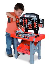 Detská pracovná dielňa Black&Decker Smoby s mechanickou vŕtačkou, motorkou a 25 doplnkami