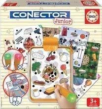 Társasjáték Élet és környezettan Conector junior Educa 40 kártyalappal, 200 kérdéssel és intelligens tollal