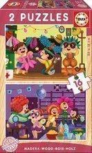 Puzzle din lemn Carnaval Educa 2x16 piese de la 4 ani