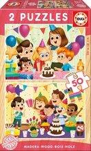Gyermek fa puzzle Születésnap Educa 2x 50 darabos 5 évtől