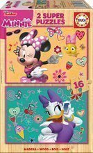 Lesene puzzle Minnie Happy Helpers Educa Disney 2x16 delov od 4 leta