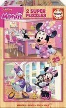 Puzzle din lemn Minnie Happy helpers Educa Disney 2*25 piese de la 4 ani
