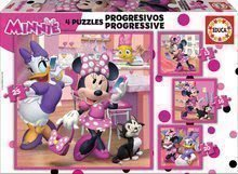 Puzzle Minnie Happy Helpers Educa progresivne 12-16-20-25 delov