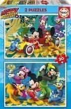 Otroške puzzle Mickey Roadster Racers Educa 2x20 delov od 4 leta