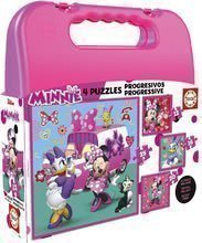 Puzzle v kovčku Minnie happy helpers Case Educa 12-16-20-25 delov