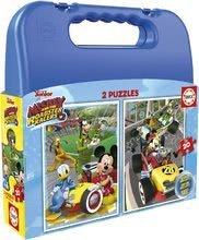 Puzzle v kovčku Mickey roadster racers Case Educa 2x20 delov od 4 leta