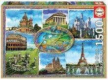 Puzzle Seven wonders of Europe Educa 1500 delov in Fix lepilo od 11 leta