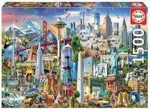 Puzzle Symbols from North America Educa 1500 delov in Fix lepilo od 11 leta