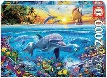 Puzzle Family of dolphins Educa 2000 delov in Fix lepilo od 11 leta