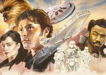 Puzzle Han Solo, A history of Star Wars Educa 1000 dílků a Fix lepidlo od 11 let