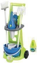 Úklidový vozík pro děti Clean Home Écoiffier 8 doplňků modro-zelený