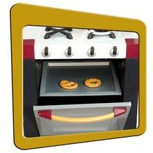 Produse vechi - Bucătărie electronică French Touch Tefal Excellence Smoby bordou-galben cu apă curgătoare_7