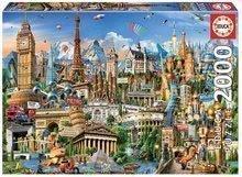 Puzzle Europe Landmarks Educa 2000 delov in Fix lepilo od 11 leta