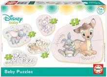 Puzzle za najmlajše Baby 5 Disney Živalce Educa od 24 mes