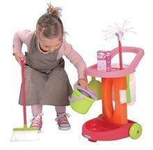 Hry na domácnost - Úklidový vozík 100% Chef Bubble Clean Écoiffier s koštětem a 9 doplňky_0