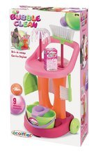 Hry na domácnost - Úklidový vozík 100% Chef Bubble Clean Écoiffier s koštětem a 9 doplňky_1