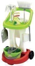 Hry na domácnosť - Upratovací vozík 100% Chef Écoiffier s vedrom a 9 doplnkami_0