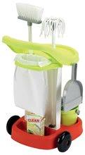 Hry na domácnosť - Upratovací vozík 100% Chef Écoiffier s vedrom a 9 doplnkami_2