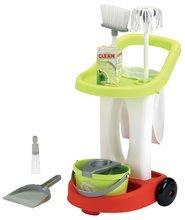 Hry na domácnosť - Upratovací vozík 100% Chef Écoiffier s vedrom a 9 doplnkami_1