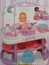 Prebaľovací stolík pre bábiku Nursery Écoiffier s kuchynkou od 18 mesiacov s 24 doplnkami ružovo-biely