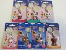 Detská kľúčenka zvieratko Clip strip LPS porte-clés viac druhov