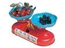 Kuchynská váha Dohány so závažím obojstranná červeno-modrá