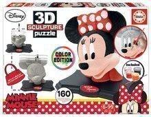 Puzzle 3D Sculpture Minnie Educa Colour Edition 160 dielov