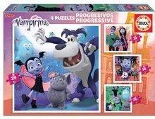 Puzzle Vampirina 4in1 Educa 12-16-20-25 piese, progresiv