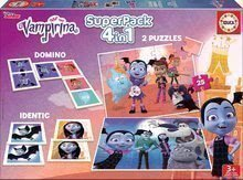 Jucării Superpack Vampirina 4în1 Educa 2x25 puzzle, pexeso şi domino
