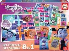 Joc de societate pentru copii Vampirina 8in1 Special game set Educa de la vârsta de 4 ani EDU17943