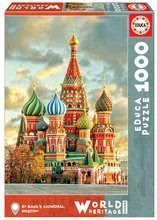 Puzzle St. Basil's Cathedral Moscow Educa 1000 dielov a Fix lepidlo od 11 rokov