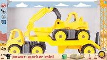 Dětské auta transportér a bagr Power BIG pracovní délka 41 cm od 2 let