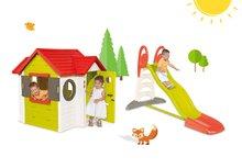 Set šmykľavka pre deti Toboggan XL Smoby s vodou dĺžka 2,3 m a domček My House s 2 dvierkami
