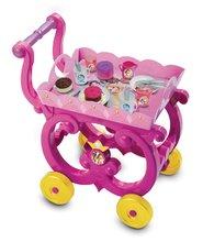 Kozmetické stolíky sety - Set kozmetický stolík Disney Princezné 2v1 Smoby so stoličkou a servírovací vozík s raňajkovou súpravou_4