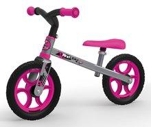Balančné odrážadlo First Bike Smoby ružové s kovovou konštrukciou a nastaviteľným sedadlom od 18 mesiacov 770201