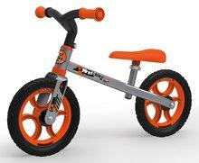 Balančné odrážadlo First Bike Smoby oranžové s kovovou konštrukciou a nastaviteľným sedadlom od 18 mesiacov 770200