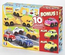 Stavebnice pro děti Rychlá auta Abrick Écoiffier 7 aut a 3 auta zdarma od 18 měsíců 51 dílů